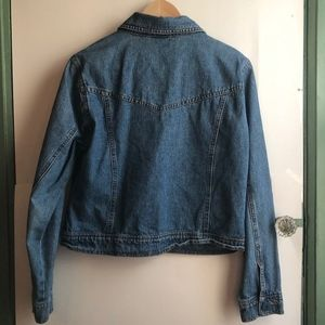 Vintage Jackets & Coats - VINTAGE BILL BLASS Medium Wash Denim Jean Jacket
